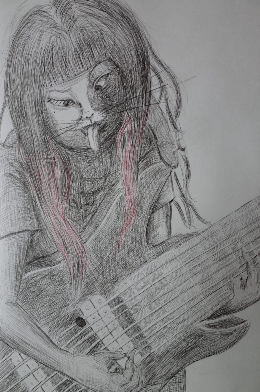 9弦ギターと猫少女