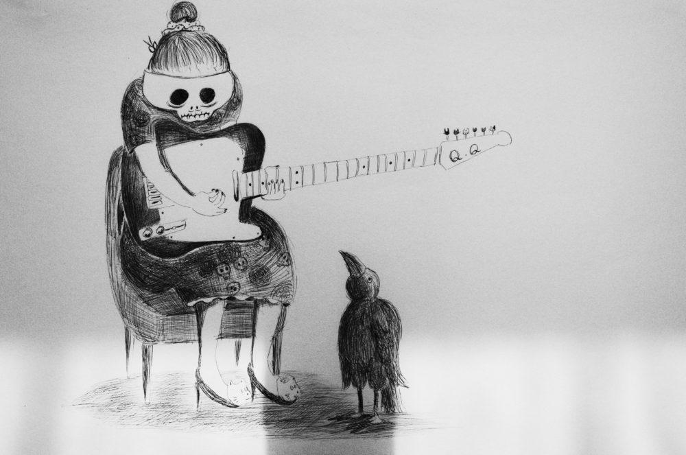 何か弾いて。