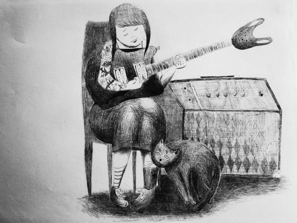 うさギター。